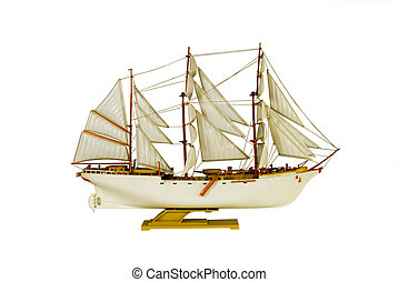 brig ship sailboat model white