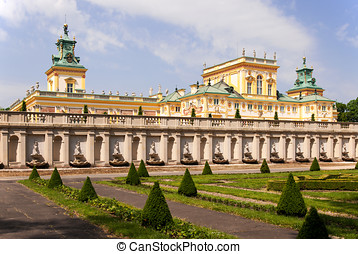 Wilanow Palace in Warsaw, Poland - Baroque Wilanow Palace in...