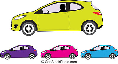 Economy car - economy car vector illustration clip-art...