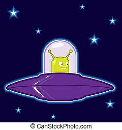UFO flying saucer illustration