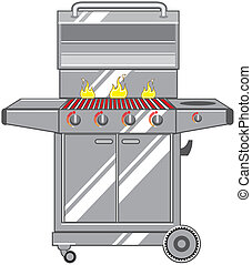 Grill Vector S - vector stainless grill artwork clip-art...
