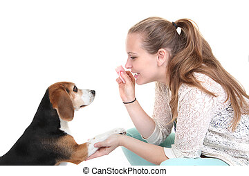 dog obedience trainingm trainer with pet.