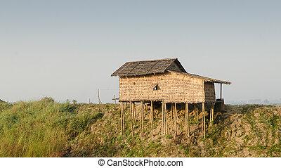 Hut on stilts