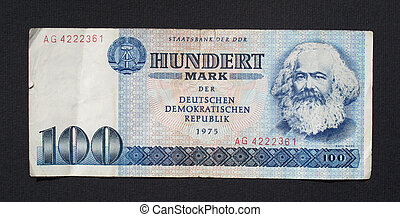 DDR banknote - 100 Mark banknote from the DDR East Germany -...