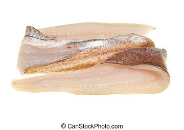 Whiting fillets - Fresh whiting fish fillets isolated on...