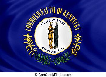 Kentucky flag of silk