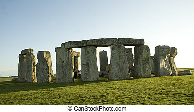 Stonehenge, located near Salisbury, England, is a...