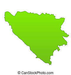 Bosnia and Herzegovina country icon map