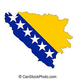 Bosnia and Herzegovina flag icon map