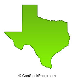 Texas country map icon