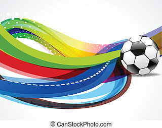 Wave Background With Football