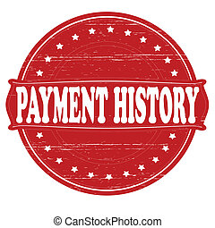 Payment history - Stamp with text payment history inside,...