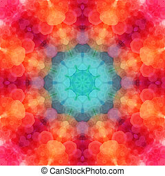 Retro pattern made of hexagonal shapes. Mosaic background....