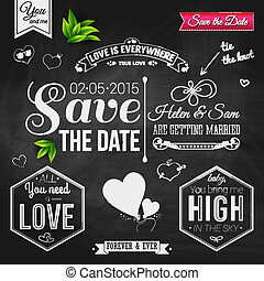 Save the date for personal holiday Wedding invitation on...