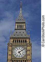 Elizabeth Tower of the Houses of Parliament in London,...