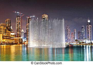 DUBAI, UAE - OCTOBER 30: A record-setting fountain system...