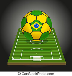 World soccer championship illustration