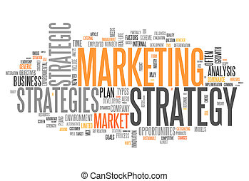 Word Cloud Marketing Strategy - Word Cloud with Marketing...