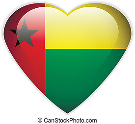 Guinea-Bissau flag button - Guinea-Bissau flag button on a...