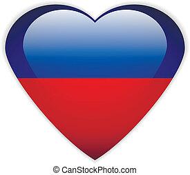 Haiti flag button.
