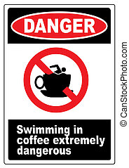 Funny coffee warning sign - Funny humourous warning sign...