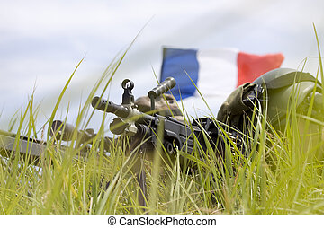 French soldiers - French army soldiers on position