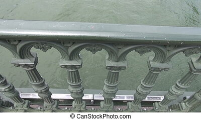 Seine river with bridge in Paris, France