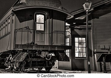 Vintage Train Station - The Thomas Edison Depot Museum owned...