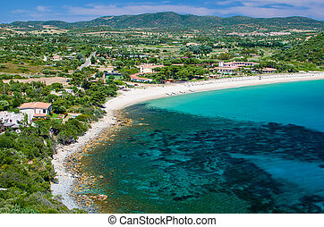Coast of Sardinia - South coast of Sardinia Island, Italy