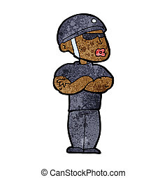 cartoon security guard