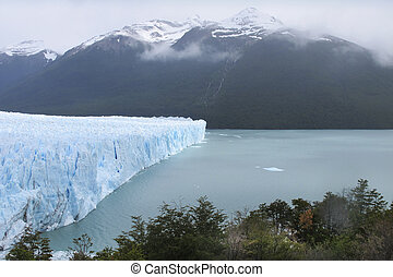 Perito Moreno glacier and lake. Argentina: South America