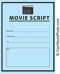 Movie script - Workbook for the movie script. Vector...