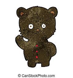 cartoon black bear cub