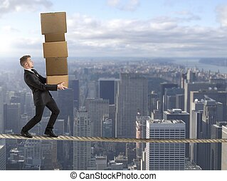 Difficult career in business - Concept of difficult career...