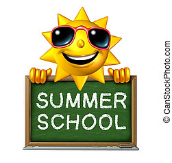 Summer School - Summer school education concept as a happy...