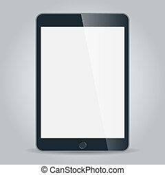 黒, ビジネス, タブレット, ベクトル, iPad,...