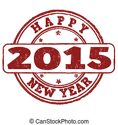 2015 happy new year stamp - 2015 happy new year grunge...
