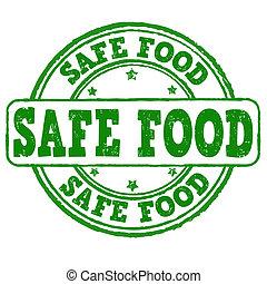 Safe food stamp - Safe food grunge rubber stamp on white,...