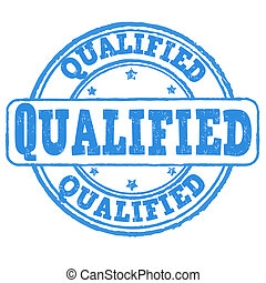Qualified stamp - Qualified grunge rubber stamp on white,...