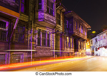old wooden house - Turkey Istanbul The old wooden house on a...