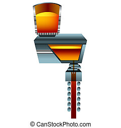 3d Steel Casting - A 3d image of a steel casting.