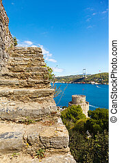 Rumelihisari fortress - stairs in the fortress walls,...