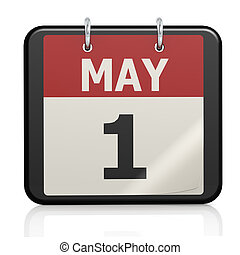 May 1, Labour day calendar