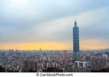 Timelapse of Taipei city, Taiwan