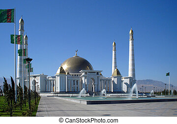 Mosque in native village of first president of Turkmenistan...