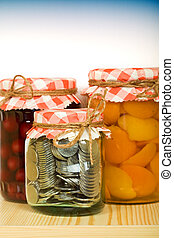 Money saving concept - Put aside when you have plenty -...