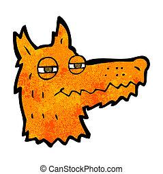 cartoon smug fox face