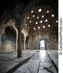 11th century Arab Baths - GRANADA, SPAIN - APRIL 25: 11th...