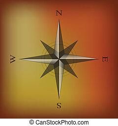 Simple compass illustration
