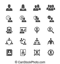Business flat icons - Simple vector icons Clear and sharp...